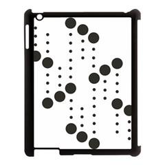 Black Circle Apple Ipad 3/4 Case (black)