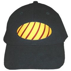 Yellow Striped Easter Egg Gold Black Cap