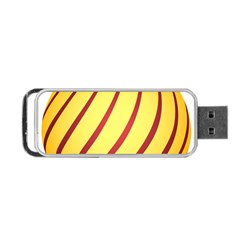 Yellow Striped Easter Egg Gold Portable Usb Flash (two Sides)