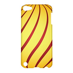 Yellow Striped Easter Egg Gold Apple Ipod Touch 5 Hardshell Case