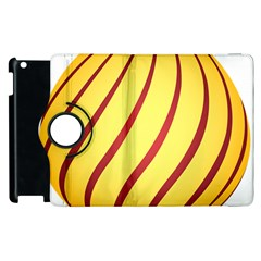 Yellow Striped Easter Egg Gold Apple Ipad 2 Flip 360 Case