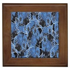 Floral Pattern Background Seamless Framed Tiles