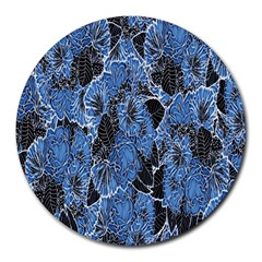 Floral Pattern Background Seamless Round Mousepads