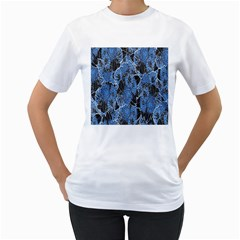 Floral Pattern Background Seamless Women s T Shirt (white) (two Sided)
