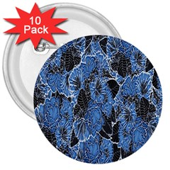 Floral Pattern Background Seamless 3  Buttons (10 Pack)
