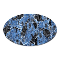 Floral Pattern Background Seamless Oval Magnet