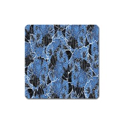 Floral Pattern Background Seamless Square Magnet