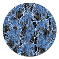 Floral Pattern Background Seamless Magnet 5  (Round)