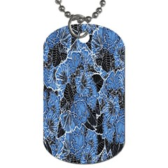 Floral Pattern Background Seamless Dog Tag (Two Sides)