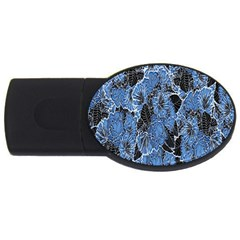 Floral Pattern Background Seamless Usb Flash Drive Oval (4 Gb)