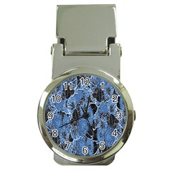 Floral Pattern Background Seamless Money Clip Watches