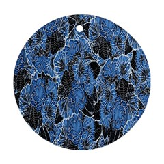 Floral Pattern Background Seamless Round Ornament (two Sides)