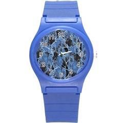 Floral Pattern Background Seamless Round Plastic Sport Watch (s)