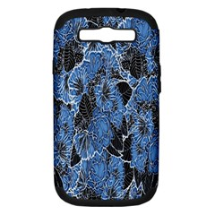 Floral Pattern Background Seamless Samsung Galaxy S III Hardshell Case (PC+Silicone)
