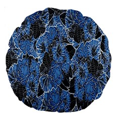 Floral Pattern Background Seamless Large 18  Premium Round Cushions
