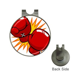 Boxing Gloves Red Orange Sport Hat Clips With Golf Markers