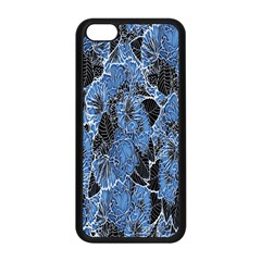 Floral Pattern Background Seamless Apple iPhone 5C Seamless Case (Black)