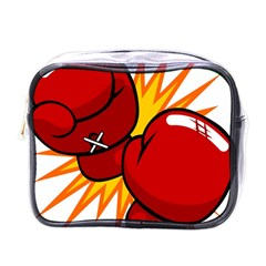Boxing Gloves Red Orange Sport Mini Toiletries Bags