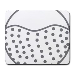 Cool Gel Foam Circle Grey Large Mousepads