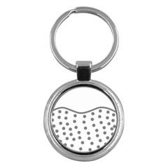 Cool Gel Foam Circle Grey Key Chains (round)