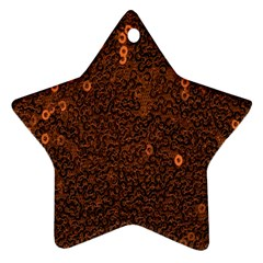 Brown Sequins Background Ornament (star)