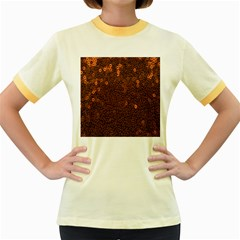Brown Sequins Background Women s Fitted Ringer T-Shirts