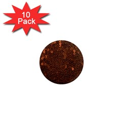 Brown Sequins Background 1  Mini Magnet (10 Pack)