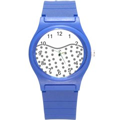 Cool Gel Foam Circle Grey Round Plastic Sport Watch (s)