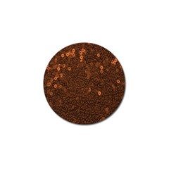 Brown Sequins Background Golf Ball Marker (4 pack)