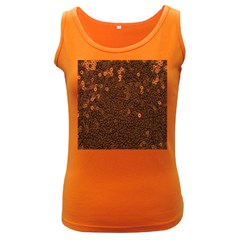 Brown Sequins Background Women s Dark Tank Top