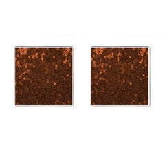 Brown Sequins Background Cufflinks (square)