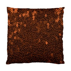 Brown Sequins Background Standard Cushion Case (one Side)