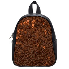 Brown Sequins Background School Bags (small)
