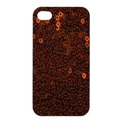 Brown Sequins Background Apple Iphone 4/4s Premium Hardshell Case
