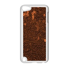 Brown Sequins Background Apple iPod Touch 5 Case (White)