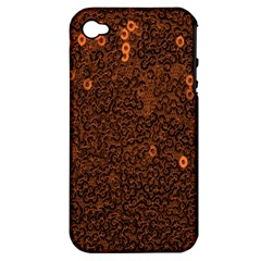 Brown Sequins Background Apple iPhone 4/4S Hardshell Case (PC+Silicone)