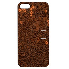 Brown Sequins Background Apple iPhone 5 Hardshell Case with Stand