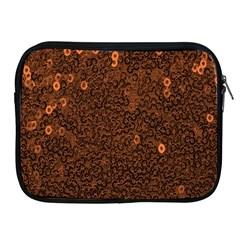 Brown Sequins Background Apple iPad 2/3/4 Zipper Cases