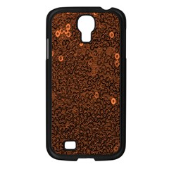 Brown Sequins Background Samsung Galaxy S4 I9500/ I9505 Case (Black)