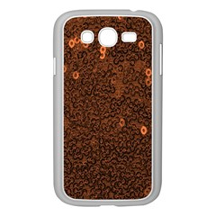 Brown Sequins Background Samsung Galaxy Grand DUOS I9082 Case (White)