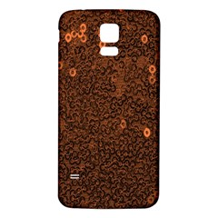 Brown Sequins Background Samsung Galaxy S5 Back Case (White)