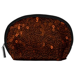 Brown Sequins Background Accessory Pouches (large)