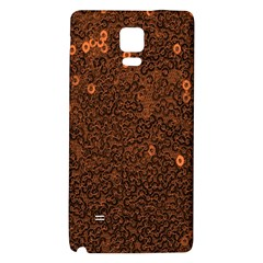 Brown Sequins Background Galaxy Note 4 Back Case