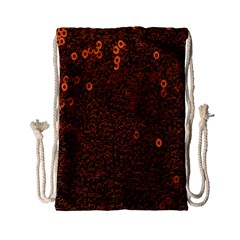 Brown Sequins Background Drawstring Bag (small)