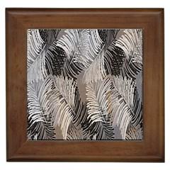 Floral Pattern Background Framed Tiles