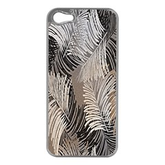 Floral Pattern Background Apple iPhone 5 Case (Silver)