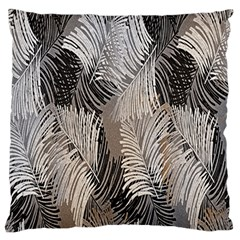 Floral Pattern Background Large Flano Cushion Case (Two Sides)