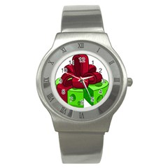 Cheese Green Stainless Steel Watch