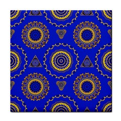Abstract Mandala Seamless Pattern Tile Coasters