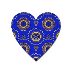 Abstract Mandala Seamless Pattern Heart Magnet